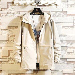 Coats Moda Yeni İnce Kalınlaşmak Erkek Giyim İnce Kapşonlu Erkekler Tasarımcı ceketler Gençlik Artı Casual Erkek
