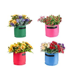 Colorful Grow Bags Non -Woven Fabric Planting Pots With Handle Durable And Degradable Garden Planters Flower Pots