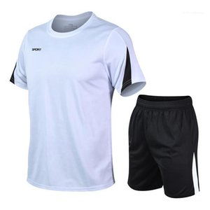 T-shirt Lose Shorts Männlicher Designer Trainingsanzug Herren Schnelle Trockene Fitness Trainingsanzug Kurzarm Crew Hals