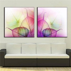 Print 2 Pcs Set Modern Abstract Wall Paintings With Frame Colorful Vein Canvas Print Still Life Canvas Wall Art Picture