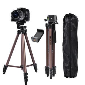 fosoto WT3130 Profesional de aluminio mini trípodes de cámara del trípode Soporte con soporte para teléfono de DSLR cámara digital teléfono Smartphone LJ200907
