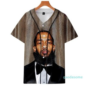 Fashion Print Nipsey Hussle Souvenir Baseball Jersey Hoodie Hot Seller Rappers T-shirt Hip Hop Art Men s and Women s Graphic Tee YE08