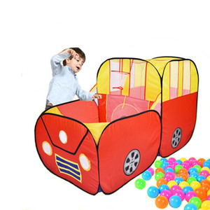 Cartoon Car Play Tent Indoor Outdoor Playhouse Children Play Game House Toy Baby Game Tent House Chewing Licking Material