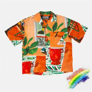 ss JACQUEMUS Shirt Men Women 1:1 High-Quality Oil painting printing Beach style Top Tees JACQUEMUS Shirts 200925