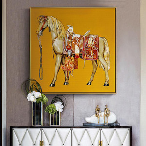 Modern Canvas Painting Horse Wall Art Pictures for Living Room Europe Knight Style Home Decor Posters and Prints