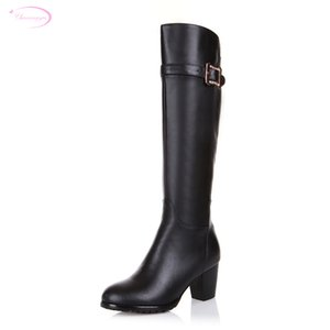Chainingyee handmade quality custom patent leather zippers knee high boots med with wedges women's riding boots