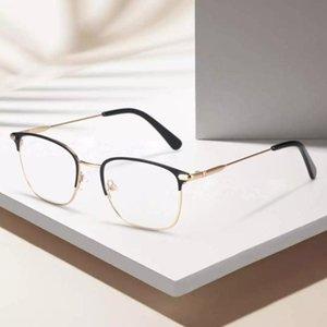 BLUEMOKY Erkekler Alaşım Kare Gözlük Çerçevesi Lüks Erkek İş Stil Optik Gözlük Miyop Hipermetrop Reçete Gözlükler