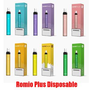 Romio Plus-Einweg-Geräte-Pod Kit 500mAh Batterie 500 Puff 3 ml Prefilled Patronen Vape leeren Pen VS Xtra Plus-Bar Flow-Bang XXL