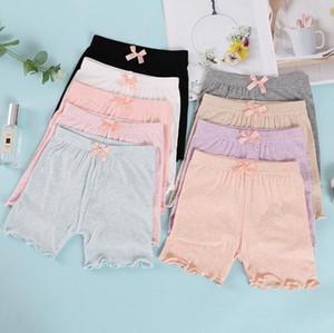 Pantalones de la seguridad del bebé que los niños de los pantalones cortos del bebé elástico de seguridad cortocircuitos del verano niños de la ropa de los calzoncillos de los niños de 8 colores DW5847