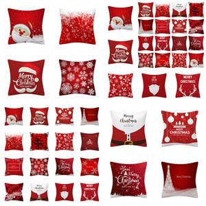 Sıcak satış Kırmızı Santa Yastık Örtüsü Avrupa ve Amerikan Ev Dekorasyon Noel Yastık Kılıfı Kanepe Yastık Örtüsü YY02