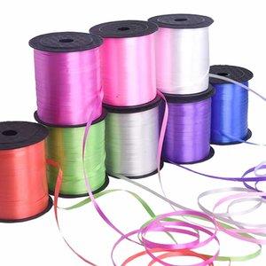 250 Yards Balão Satin Ribbon Rolls para o presente Pacote Fontes do casamento da fita decorativa Balões Acessórios