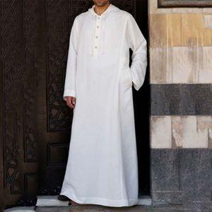 Hoodies Muslim Robe Kaftan Dressing Mens Saudi Arab Dubai Long Sleeve Thobe Arabic Long Islamic Jubba Thobe Man Clothing 2020