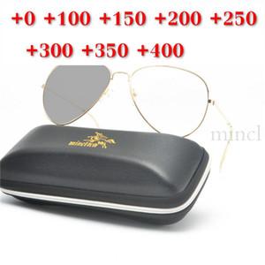 Pilot многоочаговых объектива Reading Glasses Мужчины Presbyopia Hyperopia бифокальные очки ВС Фотохромные очки NX