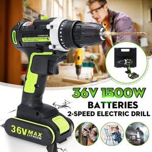 36V tournevis électrique sans fil électrique Mini Drill au lithium-ion à pile rechargeable outils électriques 2 vitesses