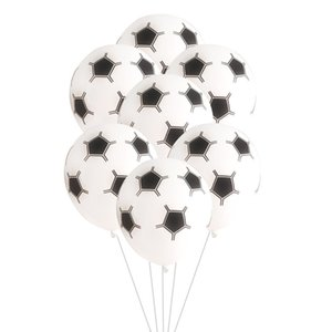 2020 New 12-inch 2.8g Thick Five-sided Football Printing Latex Balloons Children's Birthday Party Decoration Balloons In Stock