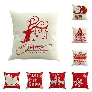 new Christmas pillowcase car sofa cushion cover Santa Claus pillow case Christmas decoration Home Decor 45*45cm SS51451