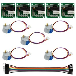 5pcs New Brand ULN2003 28BYJ-48 5V Reduction Step Motor Gear Stepper Motor 4 Phase Step for arduino 5pcs +5pcs Board