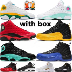 Jumpman ФИБА OVO Hot Панч игры Royal 12 12s обувь Мужские баскетбольные Black Cat 13s Чикаго такси DMP Женщины Спорт кроссовки Размер 13