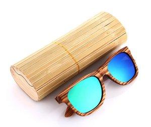 mulheres marca de moda personalizada polarizada de madeira colorida do quadro baratos óculos de sol de madeira por atacado na China