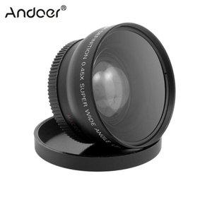 HD 52MM 0.45X عدسة زاوية واسعة مع عدسة ماكرو لكانون نيكون بنتاكس سوني 52MM كاميرا DSLR