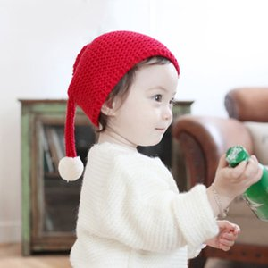 Newborn Cute Autumn Winter Kids Baby Hats Knitted Wool Hemming Big Ball Design Christmas Caps