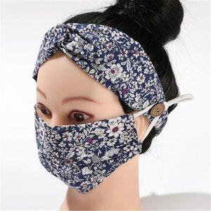 2 adet / lot earloop hairband Maske Kulak Toka Elastik saç bandı Kulak İpi Tutucu Pamuk Yıkanabilir Anti-sis Toz geçirmez Maskeleri DHC739