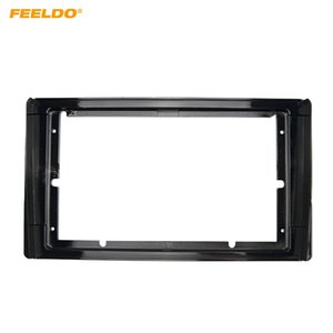 "FEELDO Car Stereo 9"" Big Screen Fascia Frame Adapter For Toyota Model 2Din Dash Audio Fitting Panel Frame Kit #6622"