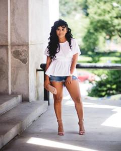 Clothing Summer Designer Shirt Womens Summer Back Hollow Blouse Girl Irregular Candy Color Crew Neck Short Sleeve