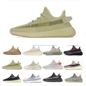 YEEZY 350 V2 2020 Cinder Terre Désert Sage Queue Lumière Hommes Femmes Chaussures de course Kanye West Clay Sésame véritable forme Lundmark Beluga 2.0 Bred V2 sport Sneaker
