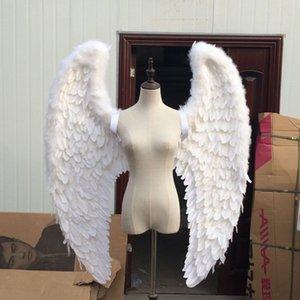 Творческое белое перо ангела взрослых Модель Walk Показать Cos Party Wing Стрельба Реквизит Фрески настенные украшения Prop Craft