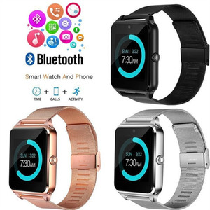 Z60 Steel Band Smart Watch d'Z60 intelligente Montre Bluetooth à puce Wearable carte montre téléphone écran 1,54 pouces
