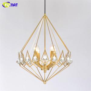 FUMAT Modern Light LED Gold Crystal Diamond Chandelier Living Room Pendant Lamps Lighting Decor Hanging Lamps Hanglamp Lights Fixtures