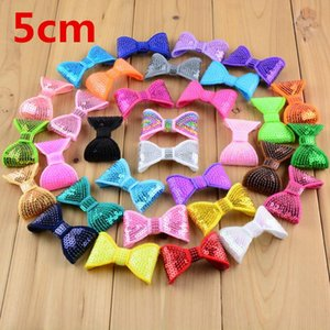 """100pcs Lot Classical 2"""" Embroidery Sequin Bows For Headband Boutique Hair Bows Hair Accessories 32color U Pick Hdb12"""