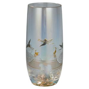 20200912 ouro brilhante e prata dispararam copo de vidro e chá