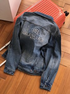 20fw neue Ankunft der Frauen der Männer Stickerei Denim Jacke Designer Hoodie Baumwolle Pullover balc Pullover Streetwinterkleidung