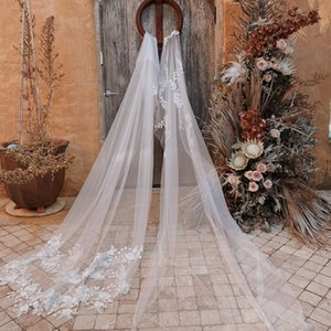 Chapel Wedding Veils 2020 White Lace One Layer Bridal Veils Fast Shipping Real Pictures Custom Made