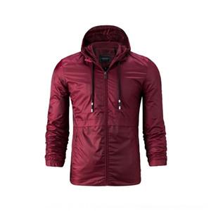 jaqueta de todo-jogo com capuz cor sólida fino grande jaqueta de Outono casuais moda masculina GImue e tamanho finos para homens