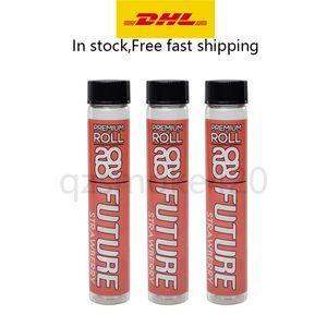 La nueva llegada 20 del tubo 20 Futuro Pre-roll de cristal Blunt articulaciones Conos de empaquetado de contenedores Vaping 420 Embalaje de hierba seca dankwoods Packwoods