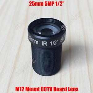 "5MP 1/2"" Sensible Junta de CCTV 25mm F2.4 IR M12 Montaje de la lente para la cámara de MTV 960P 1080P 2MP 3MP 4 MP 5 megapíxeles IP analógica por Excelax"