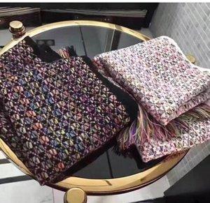 Горячий конструктор Шерсть Вязаная Длинный шарф для женщин Мода красочной кисточки кашемир Бесконечность шарфы шаль Зимних теплых Платки высокого качество