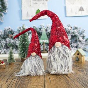 Рождество Безликие куклы Вешалка Нетканые ткани Nordic Страна Бог Санта-Клаус висячие куклы Рождество год украшение окна