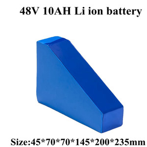 Triangle 48v Li-ion Battery 10Ah Li Ion with Bms 13s for 1000w Electric Bike Bicycle Scooter +3A Charger+ Bag