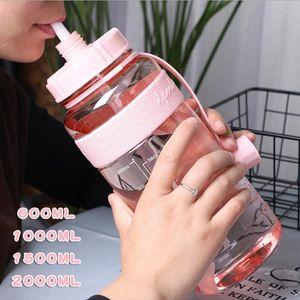 Promotional 21oz 35oz 53oz 71oz Food Grade Safe Large Capacity Sport Water Bottle Outdoor Traveling Camping Hiking Plastic Water Bottle