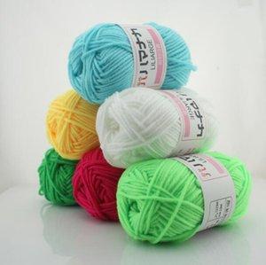 Latte Cotone confortevole Lana Filati misti capi di cucito filato a mano a maglia sciarpa cappello filato a crochet