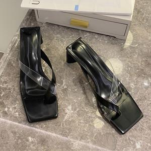 Women Slippers High Heels Pumps Roman Sandals Shoes Summer 2020 Fashion Shoes Casual Slides Flip Flops Transparent Ladies