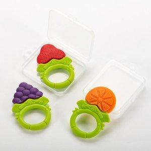 Yeni Bilezik azı dişleri bebek guta perka meyve silikon ısırık ısırık müzik hediye saklama kutusunun perkanın Bebek meyve guta