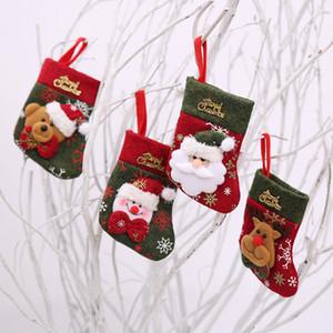 Cartolina di Natale Forcella Borse Cucchiaio da tavola Holder Cover Guanti Guanti da pranzo Tavoli da pranzo Decorazione Decorazioni natalizie Borsa Mare Shipping FFA4416