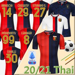 2020 2021 Genoa Cricket Soccer Jerseys 10 Gumus 11 Kouame 20 Schone Romero Sturaro Sturaro Pinamonti T.Sanabria personnalisé CFC Home 20 21 Shirt de football