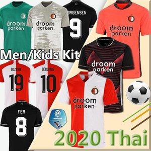 20 21 Feyenoord fútbol Jersey KOKCU Berghuis FER camiseta de futbol JORGENSEN fútbol jerseys SENESI kits de hombres hijos de fútbol 20 21