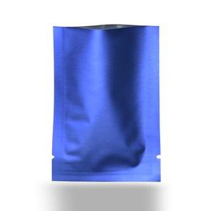 Matte Blu Open Top Bag cibo puro metallo alluminio Bag mylar confezionamento sottovuoto sacchetti di cibo Cosmetic Pouch alimentari Package